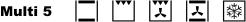 Электрическая духовка Multi 5 (термоциркуляция, верхний-/нижний нагрев - 5 программ нагрева)